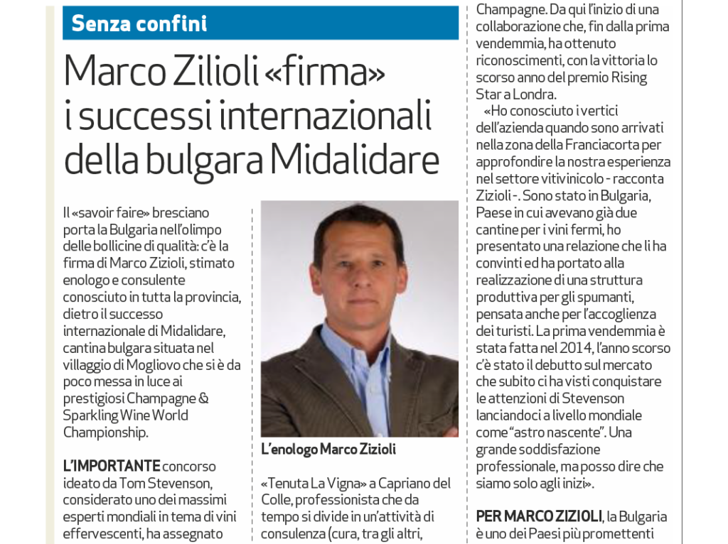 An international success for our oenologist, Marco Zizioli